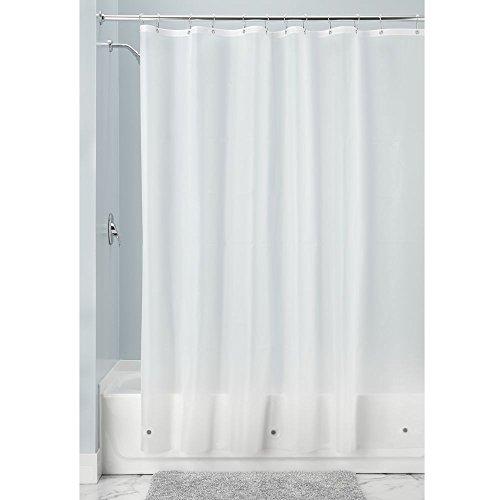 InterDesign 12031 Mildew-Resistant Antibacterial 10 Gauge Heavy-Duty Shower Curtain Liner - 72in X 72in, Frost (Peva Gauge Shower Liner X compare prices)