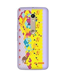 Stripes And Elephant Print-59 Motorola Moto X Style Case