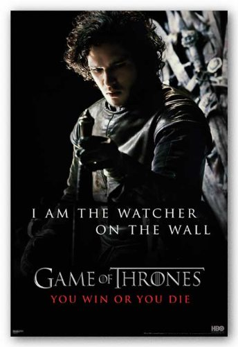 Game of Thrones I am the Watcher on the Wall TV Poster Print - 24x36