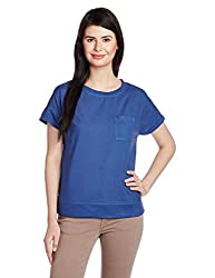 People Women's Body Blouse Top (P20402095850250_Blue_Large)