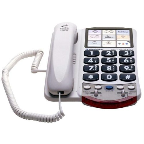 New Amplified Corded Photo Telephone 9 Programmable Photo Memory Buttons Ring Indicator Clarity