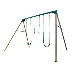 Lifetime 290038 heavy duty a frame metal swing for How to build a metal swing set frame
