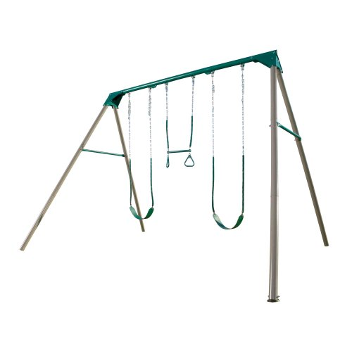 Lifetime Deluxe Freestanding A-Frame Swing Set (Earthtone)