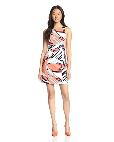 4.collective Women's Curvilinear Square Neck Dress