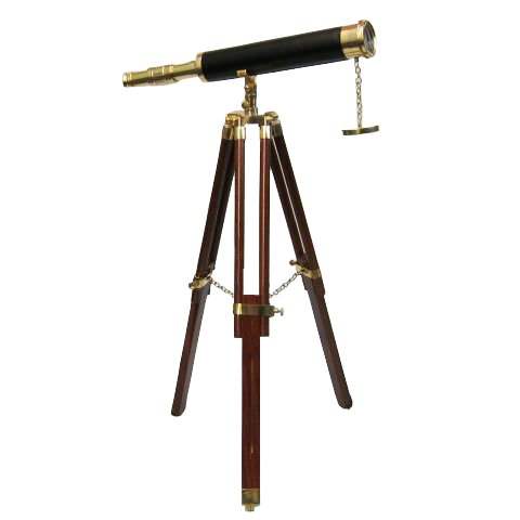 Brass Tabletop Telescope Wooden Stand By New Brand Of Itdc
