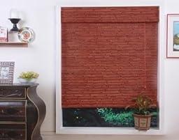 Randa Auburn Bamboo Roman Shade - Free Shipping, 48x74