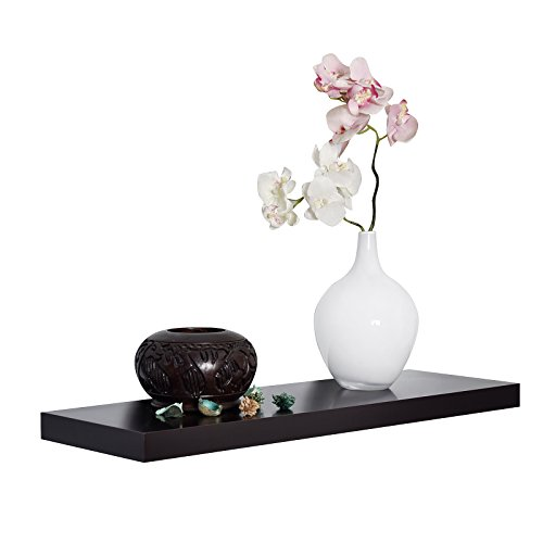 WELLAND Simons Floating Wall Shelf, 36-Inch, Espresso