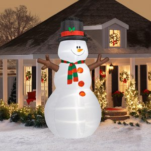 Christmas Decoration Lawn Yard Inflatable Airblown Snowman 12' Tall front-220837
