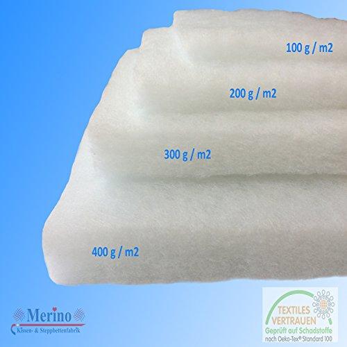 Volumenvlies Polsterwatte Vlies Vlieswatte 160cm breit (100 g/m2 160cm Breit)