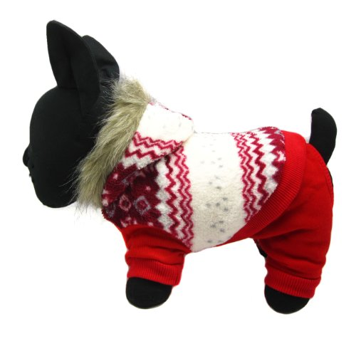 Alfie Pet Apparel By Petoga Couture - Nova Hooded Jumper - Color: Red, Size: S