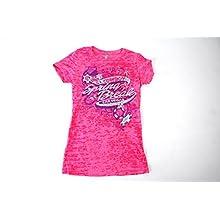 Ladies Cowboy Spring Break Burnout Pink Short Sleeve
