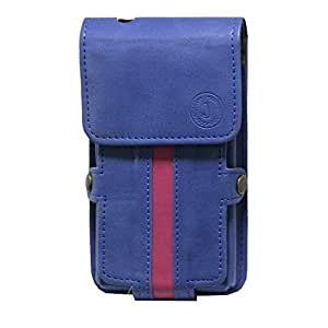 Jo Jo A6 Nillofer Series Leather Pouch Holster Case For HTC One SV CDMA Dark Blue Pink