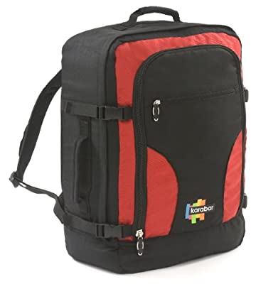Karabar K-BAR-50 Maximum Cabin Allowance Backpack (Black/Red)