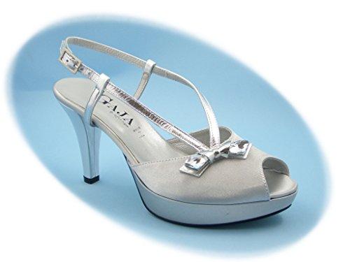 Sandalo elegante Gaja-Soffice Sogno, scarpa con tacco 8,5cm e plateau 2cm.