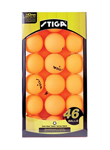 Stiga Table Tennis Balls (46-Pack), Orange, 46-Pack