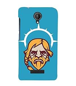 EPICCASE Jesus the saviour Mobile Back Case Cover For Micromax Canvas Spark Q380 (Designer Case)