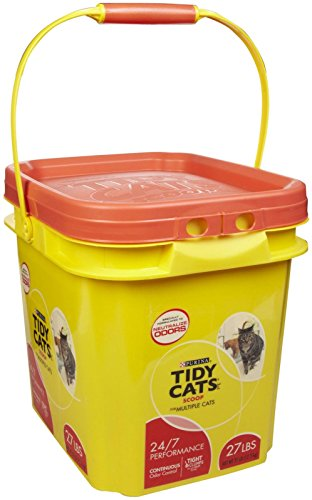 Tidy Cats Cat Litter, Clumping, 24/7 Performance, 27-Pound Pail, Pack of