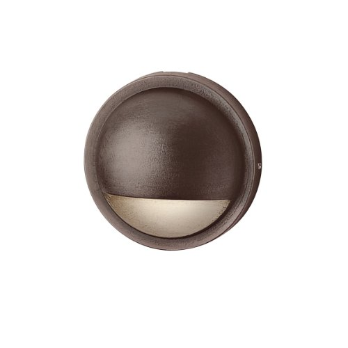 15764BBR Design Pro LED Half Moon Deck & Patio Accent Light, Bronze Brass Finish with Satin Etched Tempered Soda Lime Glass