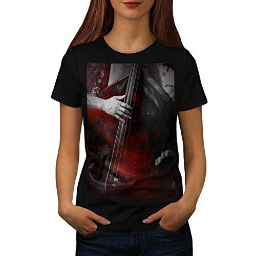 Musica Strumento Basso Da donna Nuovo Nero M T-Shirt   Wellcoda