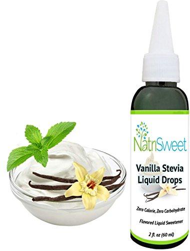 Liquid flavored stevia drops