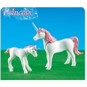 Unicorn birthday party favors for kids for Playmobil pferde set