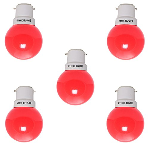 0.5W-LED-Bulb-(Red,-Pack-of-5)