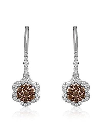 Jewelili Ohrringe Sterling-Silber 925
