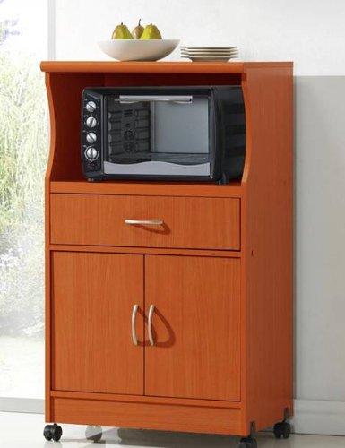 hodedah microwave cart cherry home garden kitchen dining 25 best ideas about microwave cart on pinterest coffee