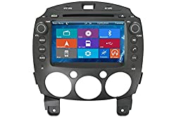 See Crusade Car DVD Player for Mazda 2 Support 3g,1080p,iphone 6s/5s,external Mic,usb/sd/gps/fm/am Radio 8 Inch Hd Touch Screen Stereo Navigation System+ Reverse Car Rear Camara + Free Map Details