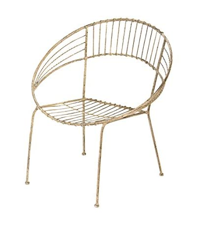 Skalny Metal Chair, Distressed White