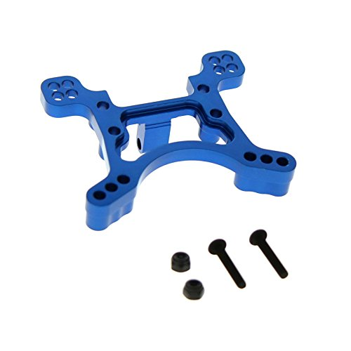 GPM Racing Alloy Front Shock Tower for 1:10 Axial EXO, Blue - 1