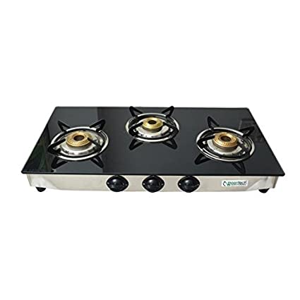 GLS Super Glass top Gas Cooktop (3 Burner)