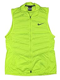 Nike Mens Aeroloft 800 Running Vest Down Fill (2X-Large, Volt Yellow)