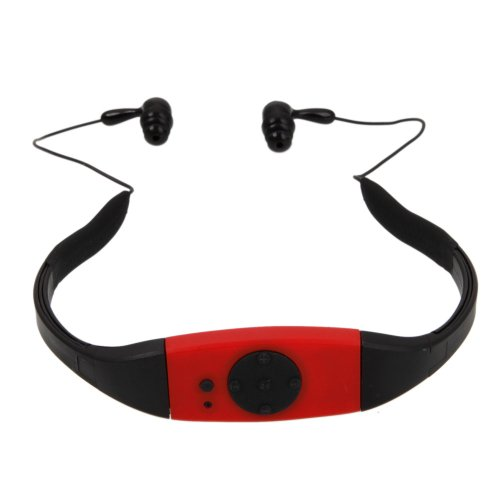4Gb Waterproof Usb Sport Headset Headphone Earphone Style Music Mp3 Player With Fm Radio Function For Swim Swimming Surfing Spa