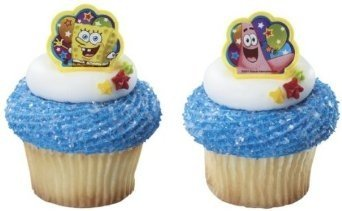 24 ct - Spongebob Squarepants and Patrick Birthday Party Cupcake Rings