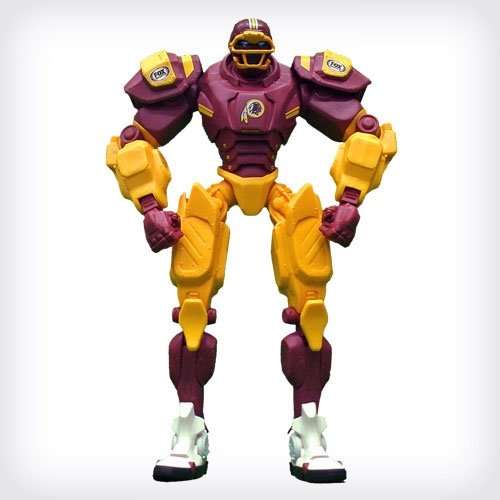 "Washington Redskins 10"" Team Cleatus FOX Robot NFL Football Action Figure Version 2.0"