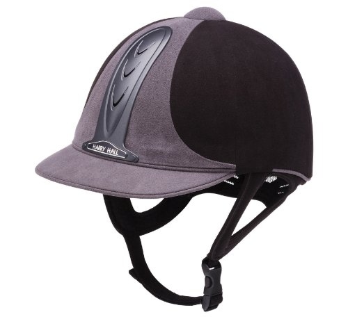 Harry Hall Legend Riding Hat - Black/Grey, 7 3/8 Inches