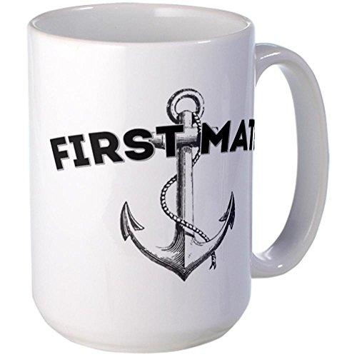 CafePress - First Mate Large Mug - Coffee Mug, Large 15 oz. White Coffee Cup
