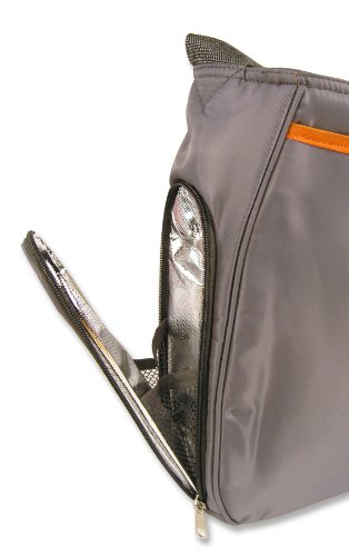 Trend Lab Ultimate Diaper Bag, Gray/Orange
