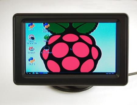 """4.3"""" Lcd Display With Composite Input For Raspberry Pi"""