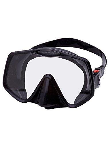 Atomic Frameless 2 Scuba Mask (Black,Medium Fit)