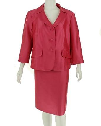 Tahari Roger Skirt Suit Strawberry 22