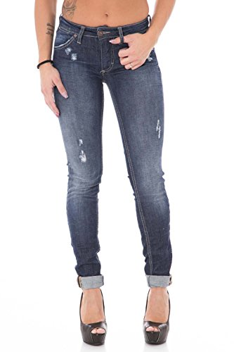 PLEASE - P95hbq2dr5 jeans da donna pantaloni slim xxs denim scuro