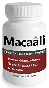 Macaali - Maca with Tongkat Ali Extract - All Natural Male Enhancement Formula combining Maca Root Powder and Tongkat Ali Extract