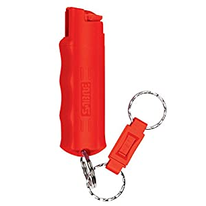 SABRE Red Pepper Spray - Police Strength - Compact, Case & Quick Release Key Ring (Max Protection - 25 Shots, up to 5x More)