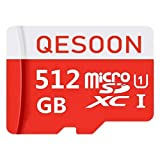 Micro SD Card 512GB High Speed Class 10 Micro SD SDXC Card with Adapter (512GB) (Color: 512GB)