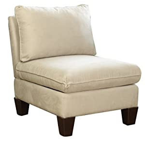 Carolina cottage upholstered oxford armless chair beige kitchen home - Armless office chairs uk ...