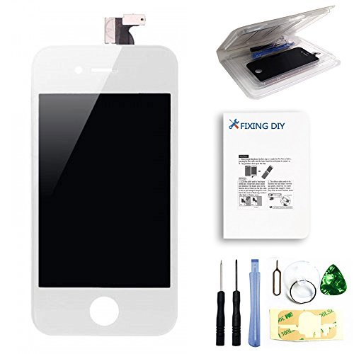 For Iphone 4S (For At&T/Verizon/Sprint) Full Set Lcd Screen Replacement Digitizer Glass Lens Assembly Display Touch Panel White + Free Repair Tool Kits [Ships From Usa]