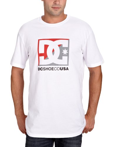 DC Shoes Cross Star Printed Men's T-Shirt White Medium