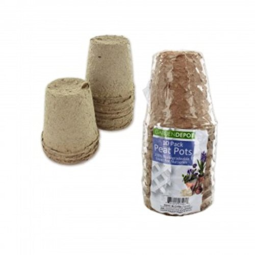 Biodegradable Peat Pots Set (10-piece) (Peat Pots For Seedlings compare prices)